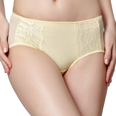 思薇爾 星語系列M-XL蕾絲低腰平口褲(杏仁黃)