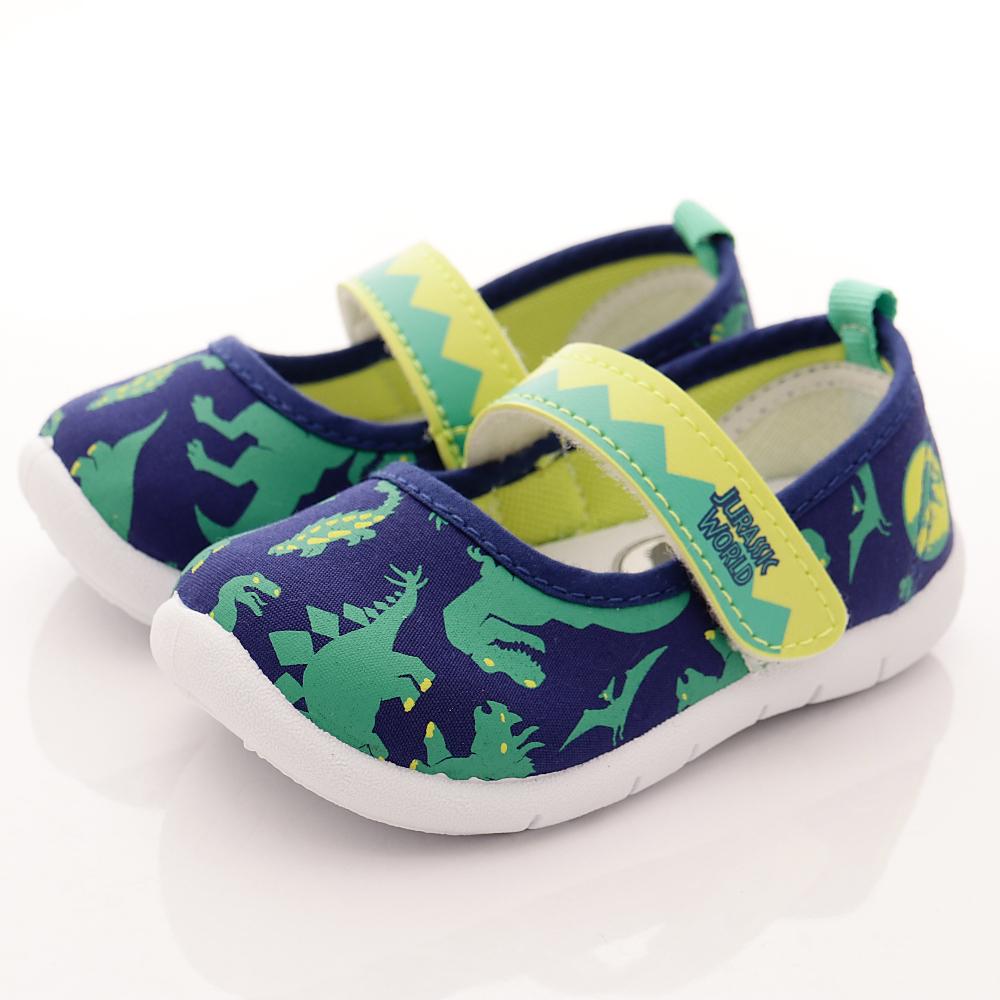 侏羅紀公園童鞋 恐龍輕量休閒鞋款 EI4404藍(中小童段)