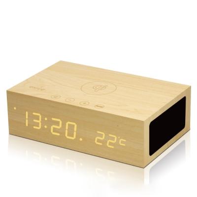 [時時樂限定]Qi無線充電多功能藍牙音響 木質音箱 支援iPhone X/8