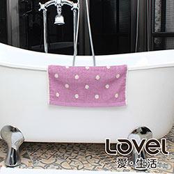 Lovel 專利咖啡紗除臭抗UV圓點方巾(共4色)