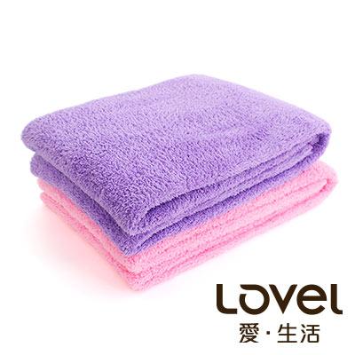 Lovel 全新升級第二代馬卡龍長絨毛纖維浴巾2件組(共5色)