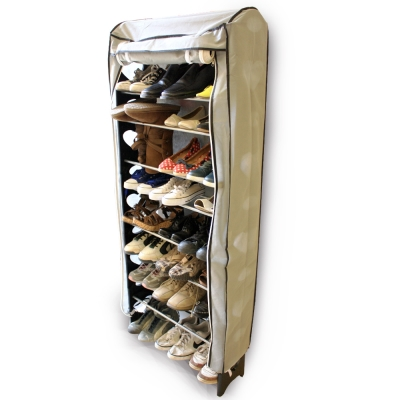 購得樂-隨意組十層加大鞋架(含布套)