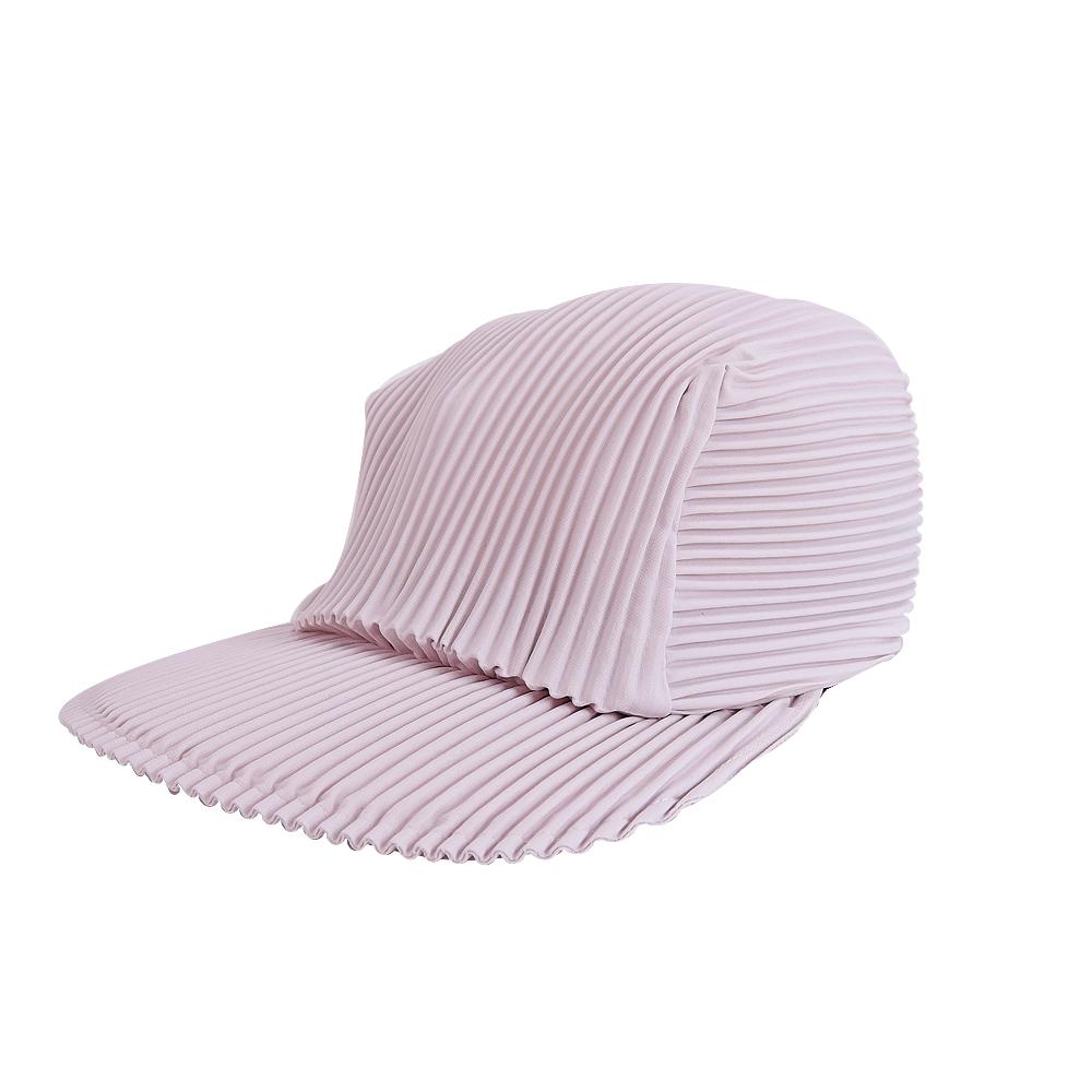 ISSEY MIYAKE 三宅一生PLEATS PLEASE褶紋鴨舌帽(粉藕) @ Y!購物