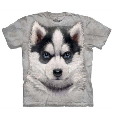 摩達客 美國進口The Mountain小哈士奇犬 純棉短袖T恤