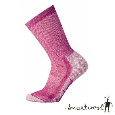 【美國 SmartWool】美麗諾羊毛 女 避震戶外中長襪((2入)_莓紫