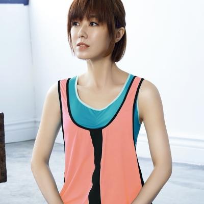 推Audrey-樂活瑜珈 運動型罩衫(蜜橙粉)