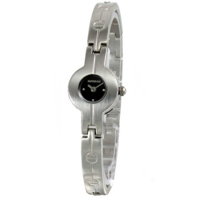 MORGAN新穎摩登個性時尚女錶-黑17mm