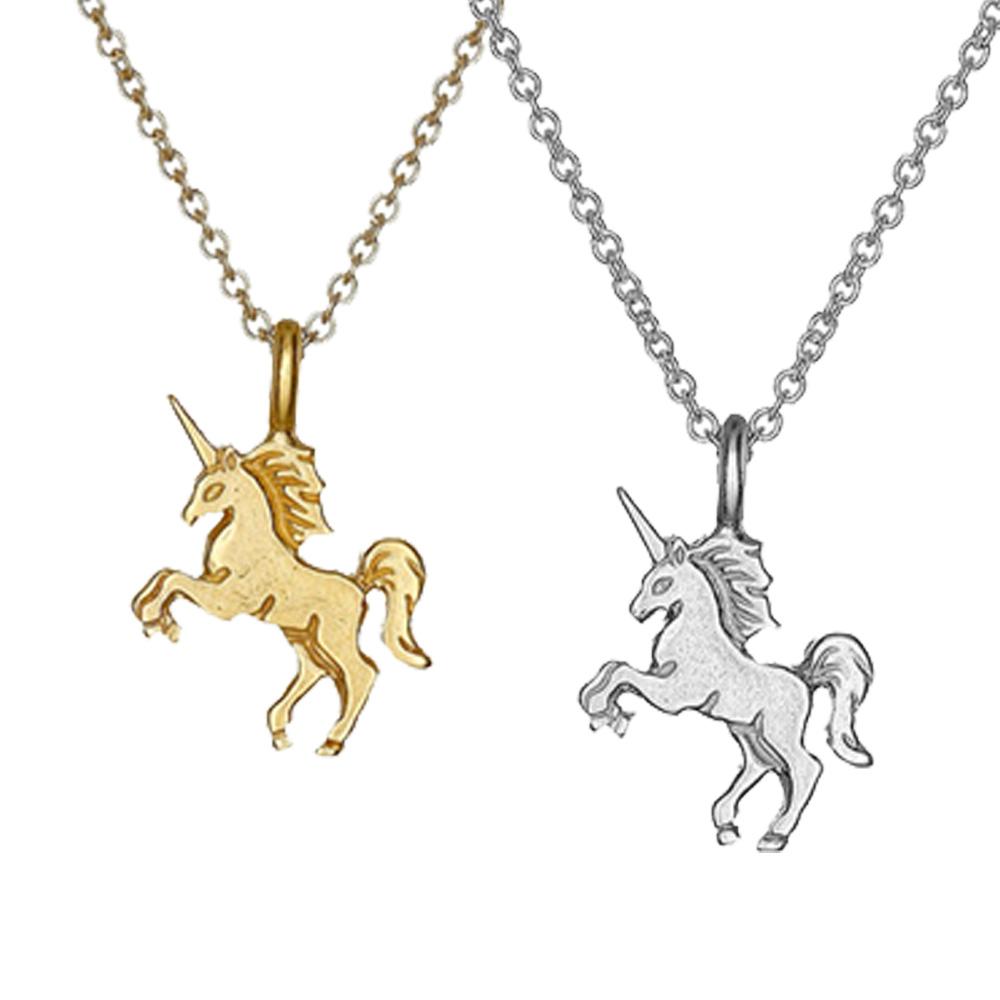 Dogeared 獨角獸 UNICORN 生命充滿魔力 金色銀色項鍊套組 附原廠盒 @ Y!購物