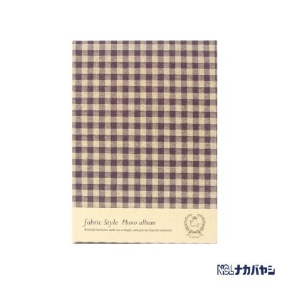日本 Nakabayashi 自黏相本 麻布系列 日式格紋相本(紫)