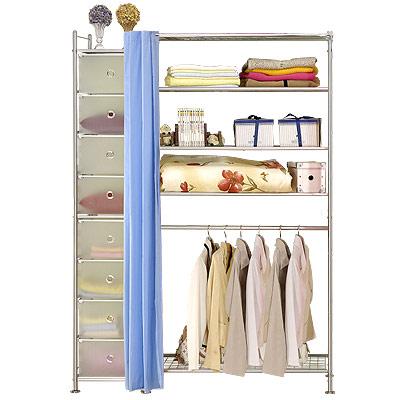 巴塞隆納─W5+D型90公分衣櫥置物架