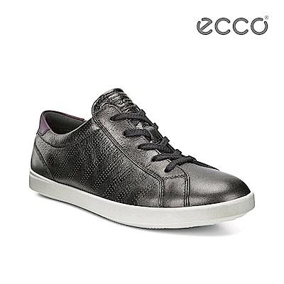 ECCO AIMEE 金屬色調輕量休閒綁帶鞋-金屬咖啡