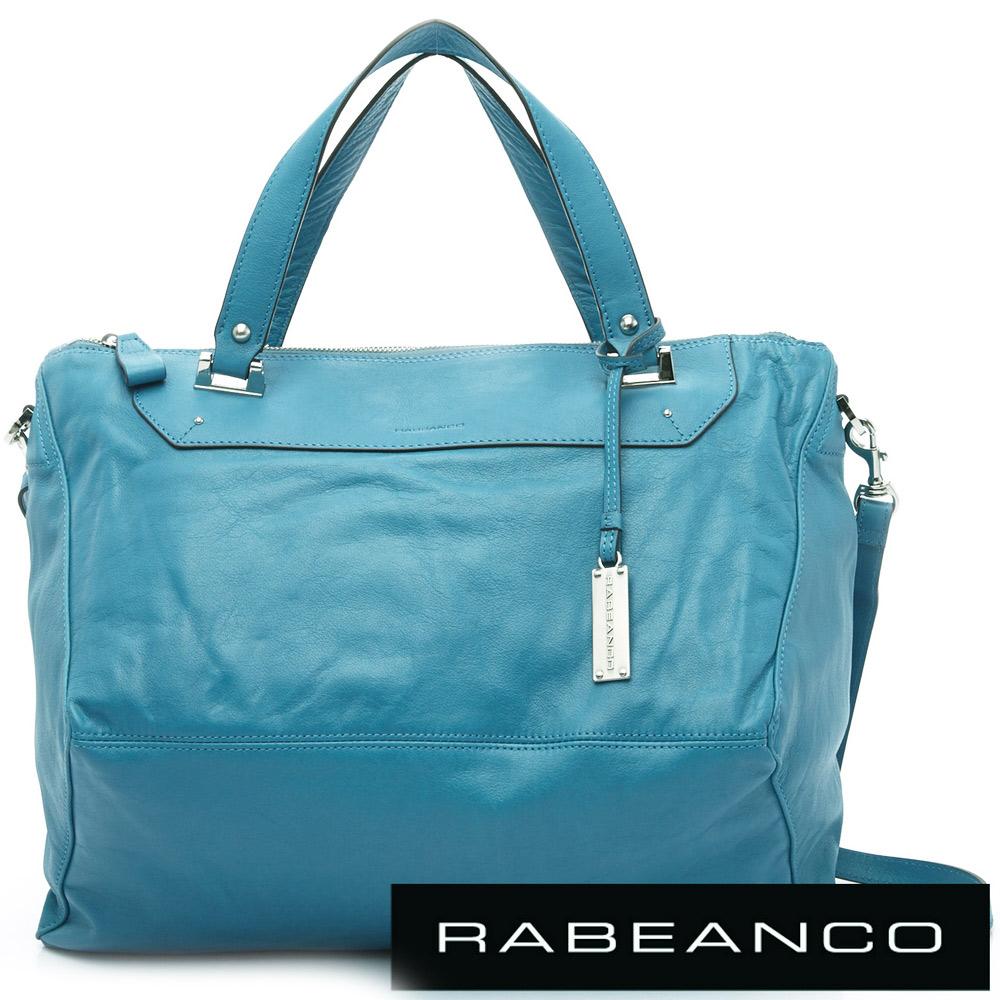 RABEANCO OL時尚粉領系列菱形包(大) 湖水藍