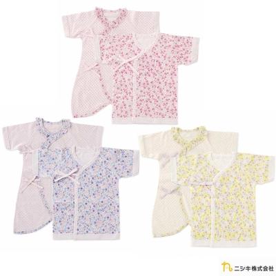 Nishiki 日本株式會社 碎花荷葉邊點點綁帶連身衣2件組