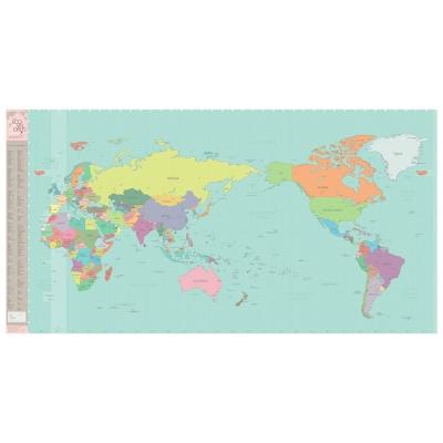 Indimap 環遊世界世界地圖海報(改版-雙層)-05彩色版