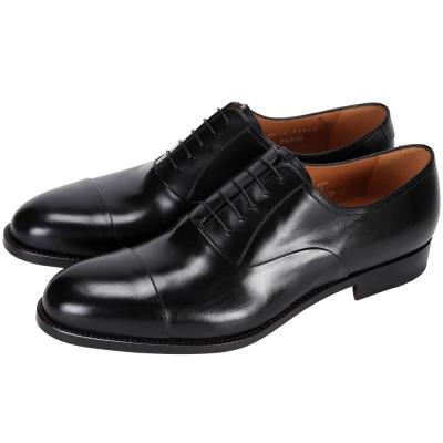 MORESCHI 經典綁帶紳士皮鞋(男款/黑色)
