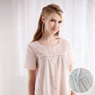 羅絲美睡衣 - 恬靜時光短袖褲裝睡衣(優雅藍)
