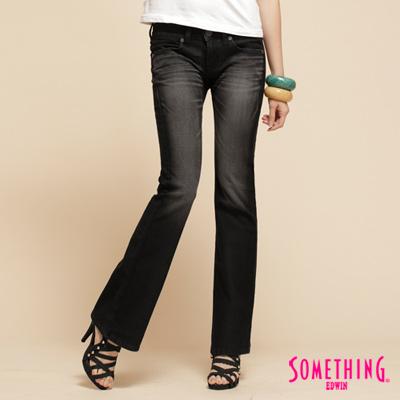 SOMETHING-輕盈微彈-NEO低腰靴型牛仔褲-女款-暗灰