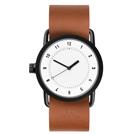 TID Watches No.1 White 白x棕褐色真皮腕錶/36mm