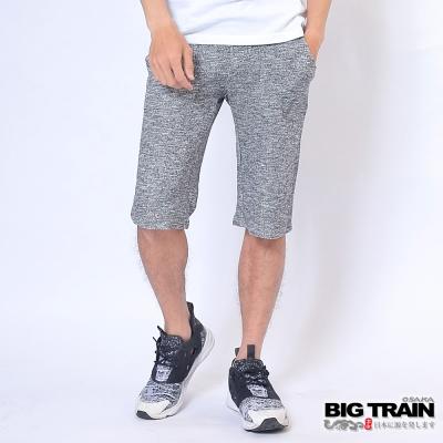 BIG TRAIN 和柄棉質短褲-男-黑色