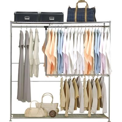 巴塞隆納-雙層雙桿伸縮衣櫥 (無防塵)