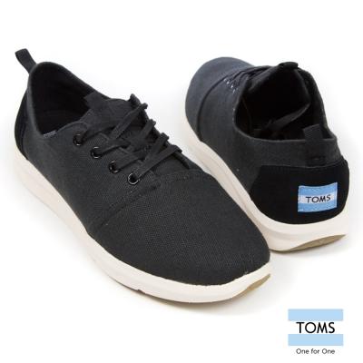 TOMS 帆布拼接休閒鞋-男款(黑)