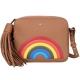 ANYA HINDMARCH Rainbow 彩虹皮革流蘇斜背包(棕色) product thumbnail 1