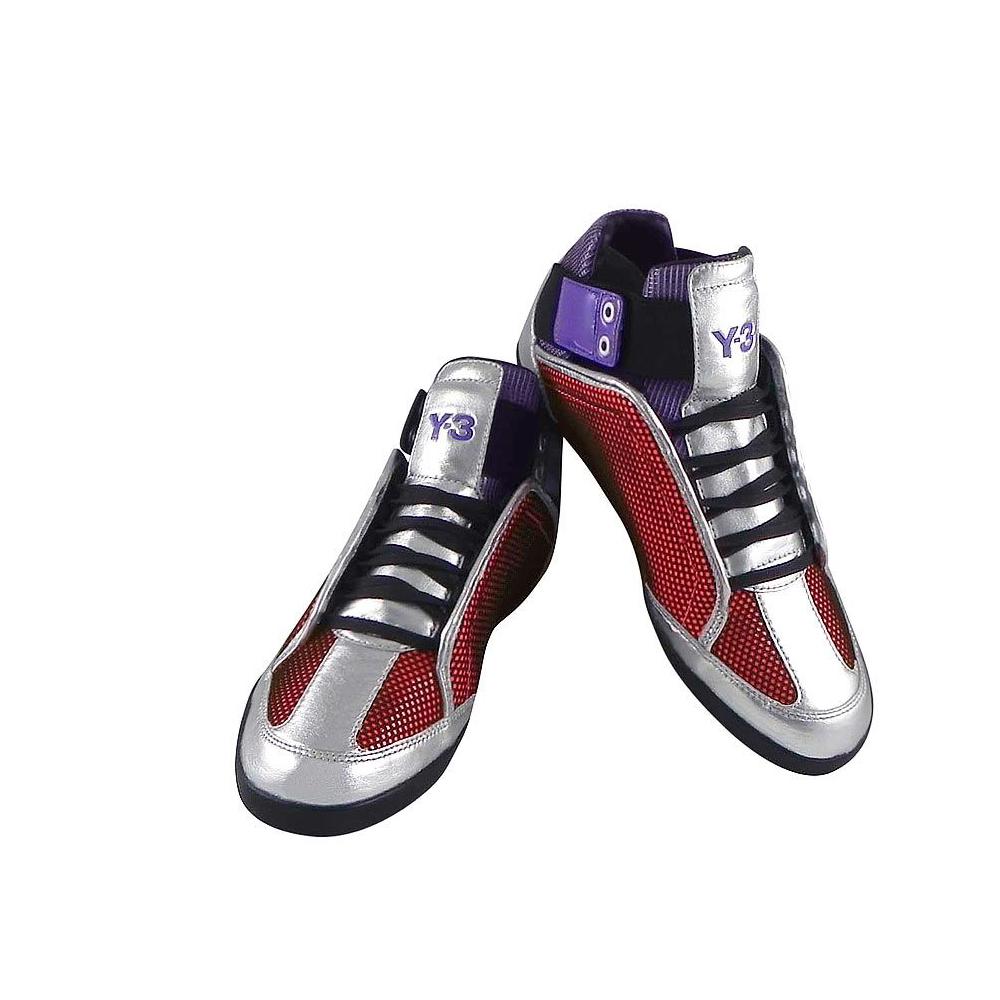 Y-3山本耀司 銀色網狀設計造型休閒鞋