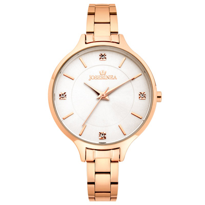 JOSERINEA 文雅凝情不鏽鋼時尚腕錶-白/ 33 mm