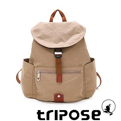tripose MEMENTO系列微皺尼龍輕量防潑水後背包-小 奶茶駝