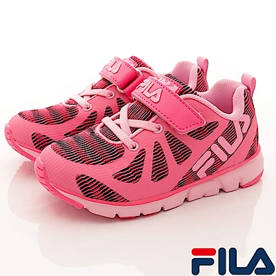 FILA頂級童鞋 義式MD慢跑款FO24S-222桃紅(中小童段)