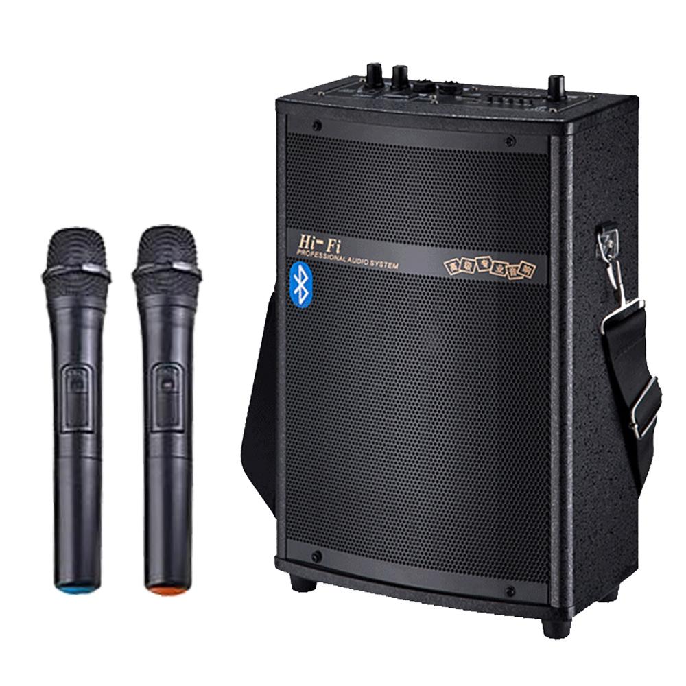 大聲公實用型無線式多功能行動音箱/喇叭 (雙麥克風組)