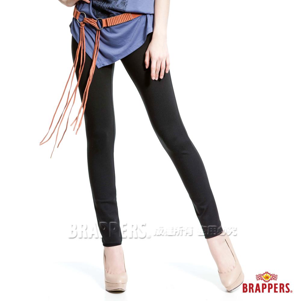 BRAPPERS 女款 新美尻系列-女用彈性九分褲-黑