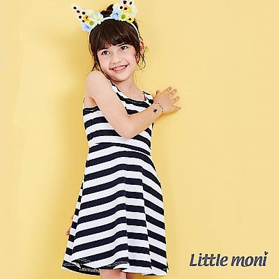 Little moni 甜心女孩大挖背蕾絲洋裝 (3色可選)