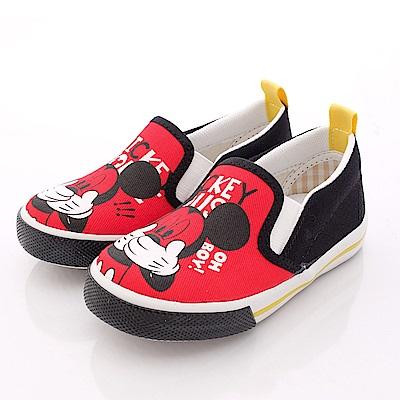迪士尼童鞋 淘氣米奇帆布鞋款 463605 黑 (中小童)T2