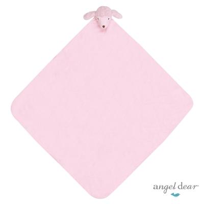 美國 Angel Dear 大頭動物嬰兒毛毯 (粉紅貴賓狗)
