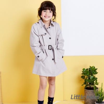 Little moni 歐美街頭時尚風衣外套 灰色