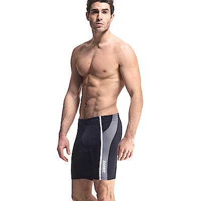 沙兒斯 泳裝 泳褲 直條紋中長男泳褲