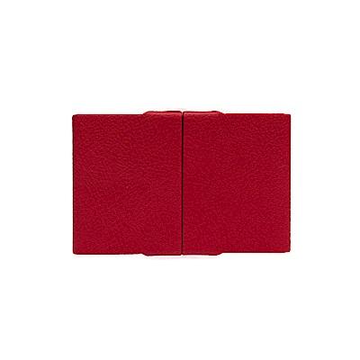 FEDON 1919 迷幻輕鋁皮面名片盒 紅