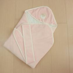 GMP BABY台灣製素色羊絨舒適嬰兒包巾1件 粉紅色