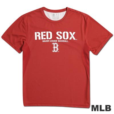 MLB-波士頓紅襪隊圓領舒適T恤-紅(男)