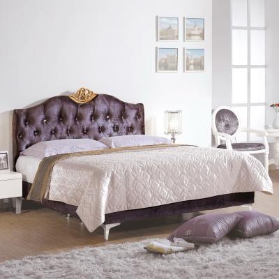 Boden-曼妮6尺紫色雙人加大床組(不含床墊)
