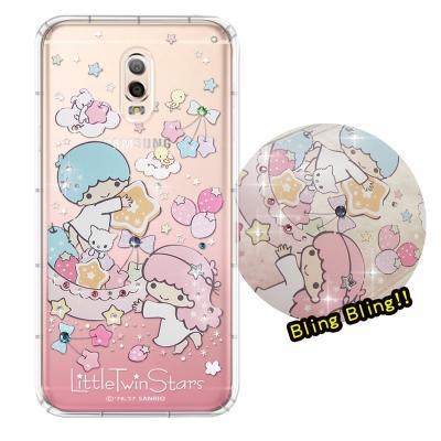 正版雙子星 Samsung Galaxy J7+ 夢幻童話 彩鑽氣墊保護殼(星光...