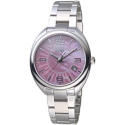 芬迪 FENDI Momento系列放射紋飾腕錶-銀/35mm