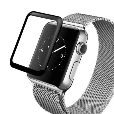 升級版 Apple Watch series 1,2,3 3D曲面滿版玻璃膜9H