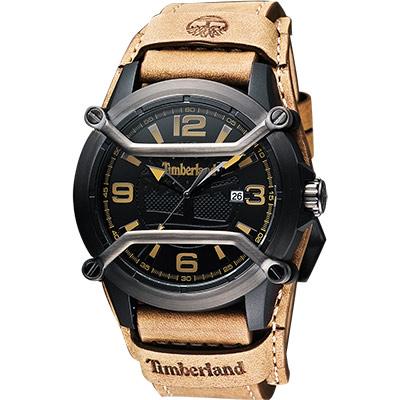 Timberland Maplewood 復古時尚腕錶-黑x卡其/44mm