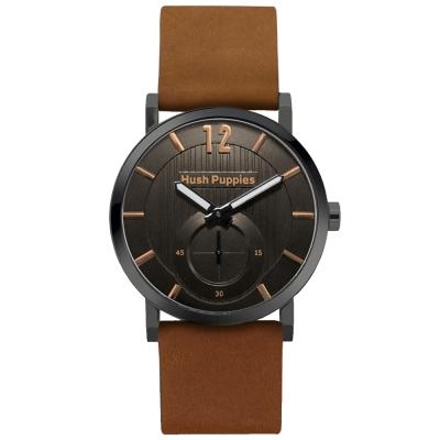 Hush Puppies 新經典品味設計腕錶-棕色/40mm