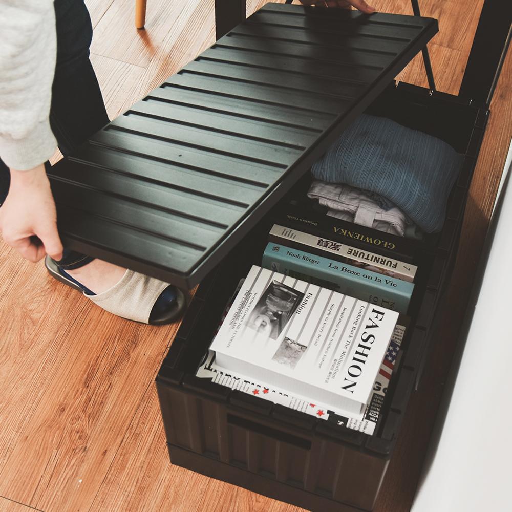 Home Feeling 收納椅/收納箱/貨櫃(2色)-2入組-64X32X30