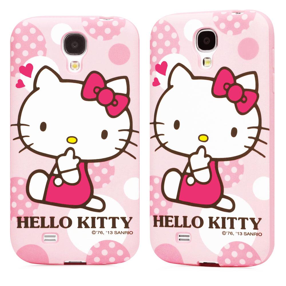 GARMMA Hello Kitty Samsung S4 TPU保護殼-糖果粉