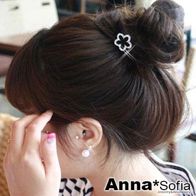 AnnaSofia 黑釉綺花款 純手工彈性髮束髮圈髮繩(黑系)