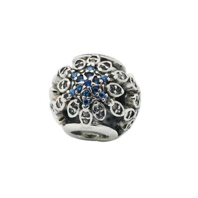 Pandora 潘朵拉 藍白雪花鋯石墜